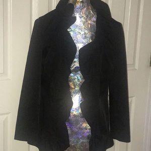 Ruffled black Cynthia Rowley jacket